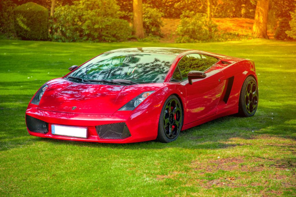 Fotografie Paderborn • DESIGN 7 • Outdoor • Lamborghini Gallardo rot vorne • Werbeagentur Paderborn