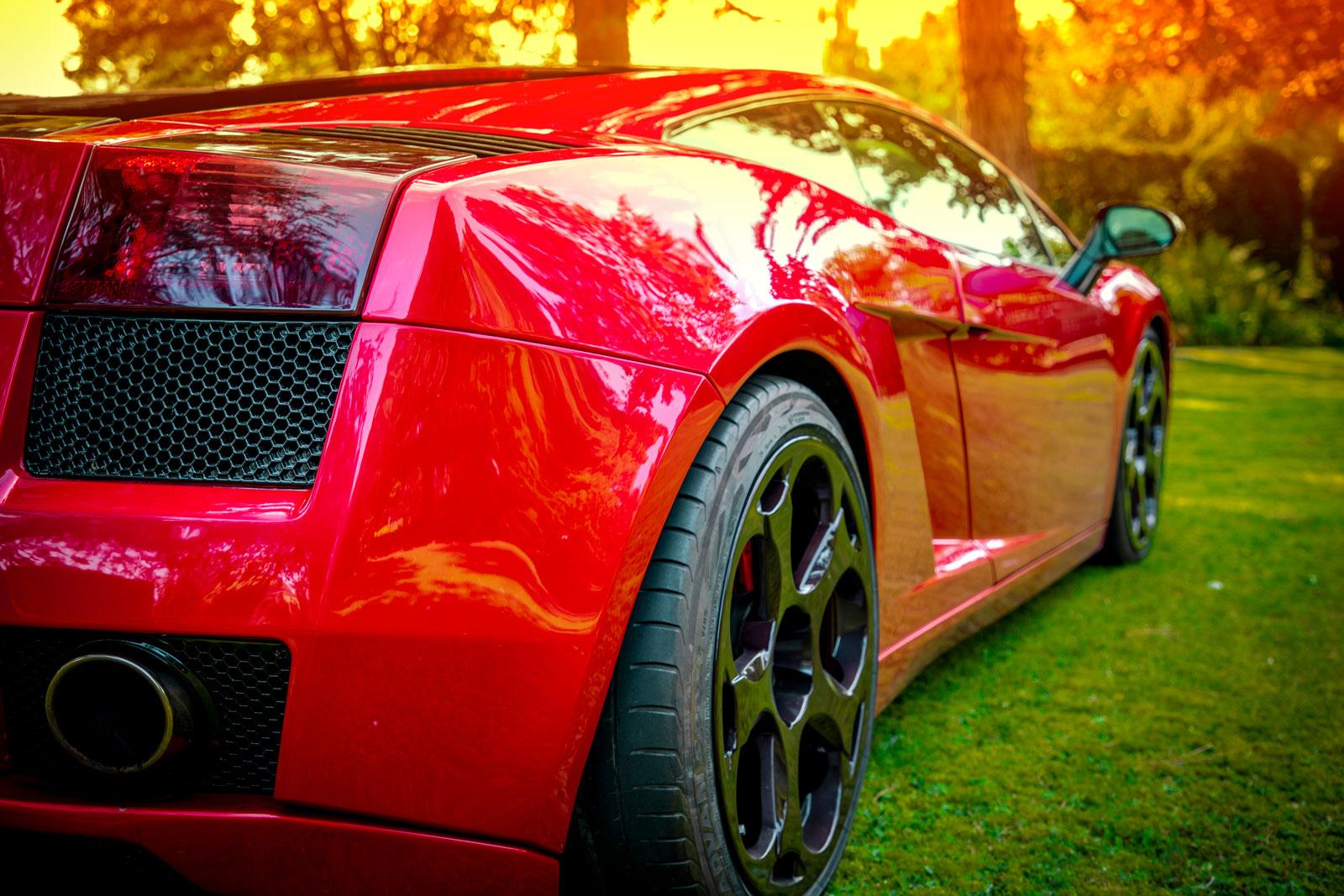 Fotografie Paderborn • DESIGN 7 • Outdoor • Lamborghini Gallardo rot Seite • Werbeagentur Paderborn
